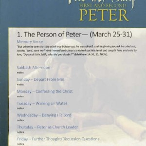 Lesson Notes for Feed My Sheep – First & Second Peter